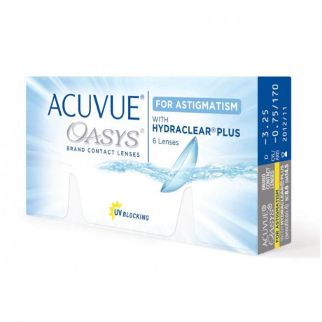 ACUVUE Oasys For Astigmatism with HYDRACLEAR Plus ( 6 шт.)